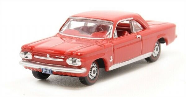 OXFORD 87CH63002 CH63002 1/87 HO  CHEVROLET CORVAIR COUPE 1963 RIVERSIDE RED